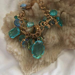 Jewelry - Bracelet, aquamarine and gold